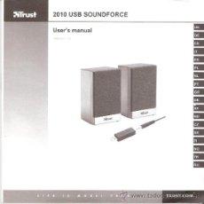 Coleccionismo: TRUST. 2010 USB SOUNDFORCE. USER'S MANUAL. VERSIÓN 1.0. -18 IDIOMAS. 108 PÁGINAS.. Lote 34990339