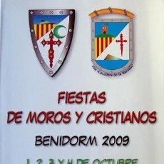 Coleccionismo: MOROS Y CRISTIANOS BENIDORM ALICANTE-FILA CAVALLERS DE LA BARONIA 2009-VER FOTO ADICIONAL. Lote 35005103