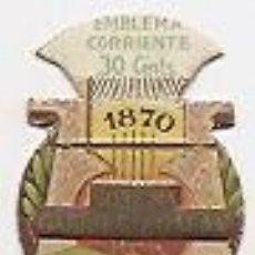 Coleccionismo: EMBLEMA DE AUXILIO SOCIAL. JOSÉ MARÍA GABRIEL Y GALÁN. Lote 35110251