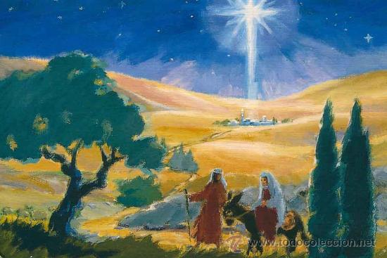 Programa Postales De Navidad.Tarjeta Postal De Navidad Pintada Con La Boca