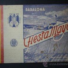 Coleccionismo: PROGRAMA OFICIAL DE FIESTAS BADALONA AÑO 1942 - FIESTA MAYOR - AGOSTO. Lote 35188997