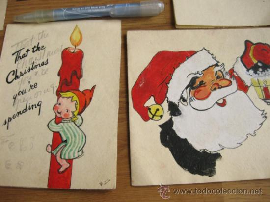 Lote de dibujos en tinta originales para el dis comprar documentos antiguos en todocoleccion - Dibujos de navidad originales ...