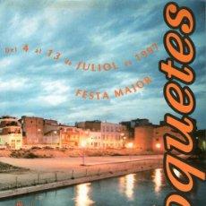 Coleccionismo: ROQUETES - PROGRAMA FESTA MAJOR - ANY 1997. Lote 35315719