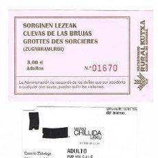 Coleccionismo: ENTRADA CUEVAS DE LAS BRUJAS. Lote 35403410