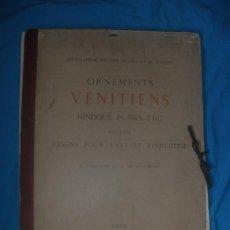 Coleccionismo: ORNAMENTOS VENITES,HINDOUS,RUSOS,ETC.PORTAFOLIO CON 34 LAMINAS.AÑO 1883.. Lote 35421559