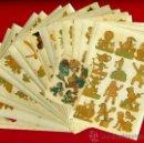 Coleccionismo: LOTE 28 CALCOMONIAS , DIFERENTES TEMAS , ORTEGA BARCELONA , ORIGINALES. Lote 35452507