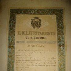 Coleccionismo: JEREZ DE LA FRONTERA, 1858, AYUNTAMIENTO CONSTITUCIONAL INSTRUCCIÓN PÚBLICA, PREMIO MEDALLA COBRE. Lote 35529801