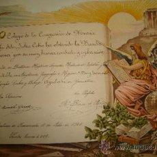 Coleccionismo: SANLUCAR DE BARRAMEDA, CÁDIZ 1925,DIPLOMA DEL COLEGIO DE LA COMPAÑÍA DE MARÍA,REGULAR ESTADO,48X30CM. Lote 35530229