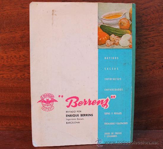 Coleccionismo: ANTIGUO RECETARIO BATIDORA TRITURADORA TURMIX BERRENS 24 EDICION CON CERTIFICADO GARANTIA AÑO 1962 - Foto 2 - 35685044