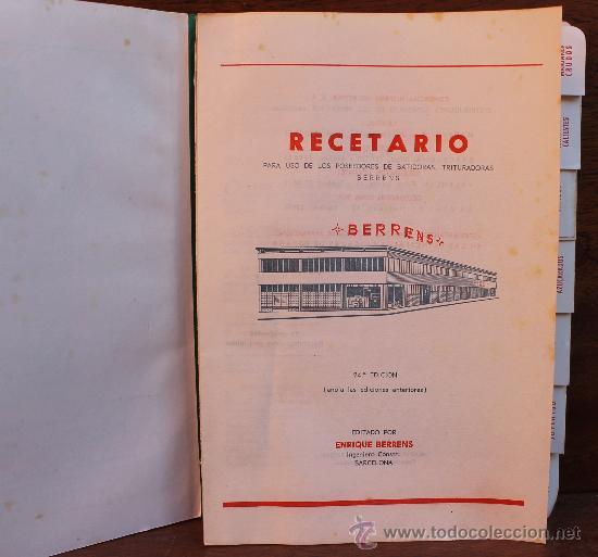 Coleccionismo: ANTIGUO RECETARIO BATIDORA TRITURADORA TURMIX BERRENS 24 EDICION CON CERTIFICADO GARANTIA AÑO 1962 - Foto 3 - 35685044