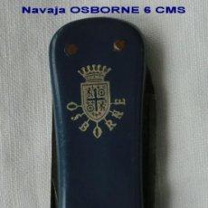 Coleccionismo: NAVAJA CON PROPAGANDA DE OSBORNE IDEAL COLECCIONISTAS. Lote 35690960