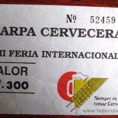 Collecting paper - ENTRADA A UNA CARPA CERVECERA. SUDAMERICA.. AÑOS 90 ENVIO GRATIS¡¡¡ - 35763102