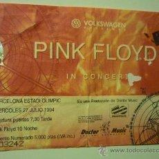 Coleccionismo: ENTRADA Y RESERVA ASIENTO CONCIERTO PINK FLOYD AÑO 1994 ESTADI OLIMPIC. Lote 35830716