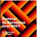 Coleccionismo: PROGRAMA - FESTIVAL DE BARCELONA GREC 2007. Lote 35933171