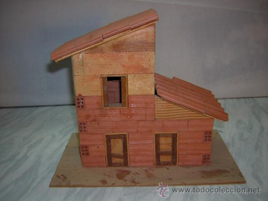 Casa casita miniatura de madera y ladrillo ver comprar en todocoleccion 36003689 - Casas en miniatura de madera ...