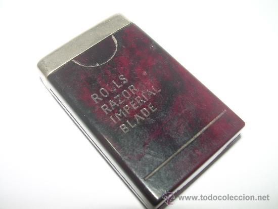 Coleccionismo: ANTIGUO ESTUCHE DE BAKELITA CON RECAMBIO DE HOJA DE AFEITAR. - Foto 2 - 36162020