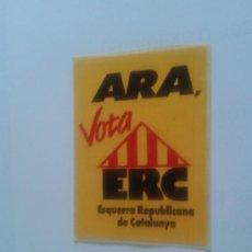 Coleccionismo: ADHESIVO VOTA ERC ELECCIONES AUTONÓMICAS 90'S ESQUERRA INDEPENDENTISTAS CATALANES ÀNGEL COLOM. Lote 36250006