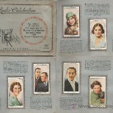 Coleccionismo: ALBUM DE LAMINAS DEL TABACO INGLES, CON LA SERIE COMPLETA DE CELEBRIDADES DE LA RADIO DEL AÑO 1934. Lote 36329477