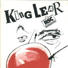Coleccionismo: PROGRAMA TEATRO KING LEAR, BY WILLIAM SHAKESPEARE (ROYAL SHAKESPEARE COMPANY. 1988). Lote 36480750