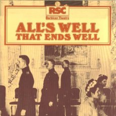 Coleccionismo: PROGRAMA TEATRO ALL'S WELL THAT ENFS WELL, BY WILLIAM SHAKESPEARE (ROYAL SHAKESPEARE COMPANY. 1982). Lote 36480755