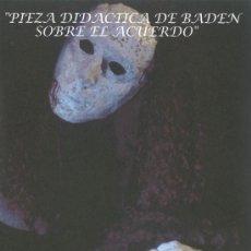 Coleccionismo: PROGRAMA TEATRO PIEZA DIDÁCTICA DE BADEN SOBRE EL ACUERDO, DE BERTOLT BRECHT (ITAE GIJÓN). Lote 36480821