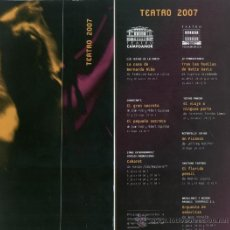 Coleccionismo: PROGRAMA TEATRO (TEATRO CAMPOAMOR. 2007). Lote 36522710