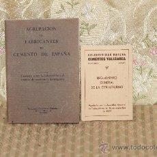 Coleccionismo: 2854- AGRUPACION DE FABRICANTES DE CEMENTO DE ESPAÑA. EDIT. HERRERA. VER DESCRIPCION. . Lote 36550713