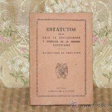 Coleccionismo: 2857- ESTATUTOS DE LA CAJA DE JUBILACION Y SUBSIDIOS DE LA MINERIA ASTURIANA. IMP. MORCHON S/F.. Lote 36551507