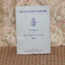 Coleccionismo: 2859-REGLAMENTO DEL ROYAL OCEAN RACING CLUB. 1957. REAL CLUB NAUTICO DE BARCELONA.. Lote 36551886