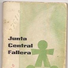 Coleccionismo: AGENDA DE LA JUNTA CENTRAL FALLERA 1966-67. VALENCIA. FALLAS DE VALENCIA. Lote 36755024