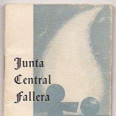 Coleccionismo: AGENDA DE LA JUNTA CENTRAL FALLERA 1965-66. VALENCIA. FALLAS DE VALENCIA. Lote 36755028