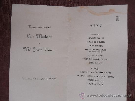 Invitacion De Boda Ano 1967 Hostal San Antonio Comprar Documentos - Ver-invitaciones-de-boda