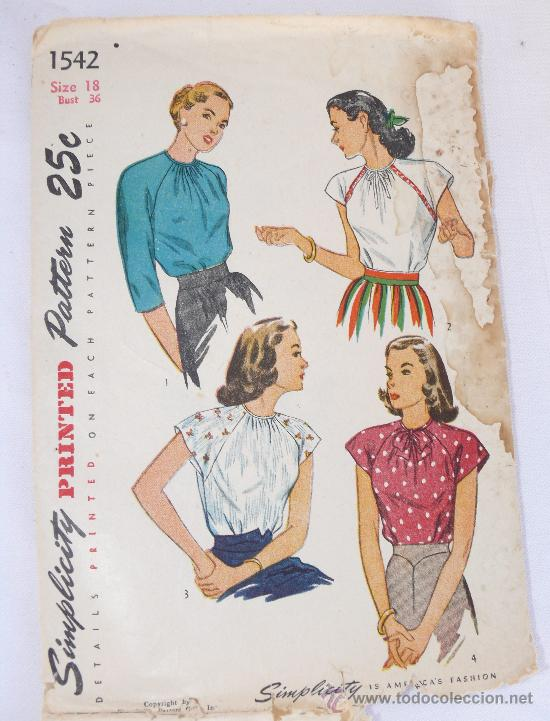 patrones diseo moda aos 40 vintage simplicity Comprar Documentos