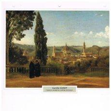 Coleccionismo: LAMINA CAMILLE COROT - FLORENCIA DESDE LOS JARDINES DE BOBOLI. Lote 36915303
