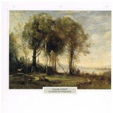 Coleccionismo: LAMINA CAMILLE COROT - LOS CABREROS DE CASTELGANDOLFO. Lote 36915333