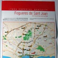 Coleccionismo: ALICANTE-FOGUERES DE SANT JOAN, LINEA DE AUTOBUS DE LAS HOGUERAS ESPECIALES AÑO 2009. Lote 37229704