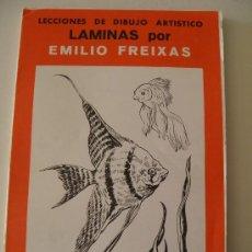Coleccionismo: EMILIO FREIXAS. LÁMINAS DIBUJO ARTÍSTICO, SERIE ROJA 33, PECES. MESEGUER, BARCELONA. AÑO 1964. Lote 193779718