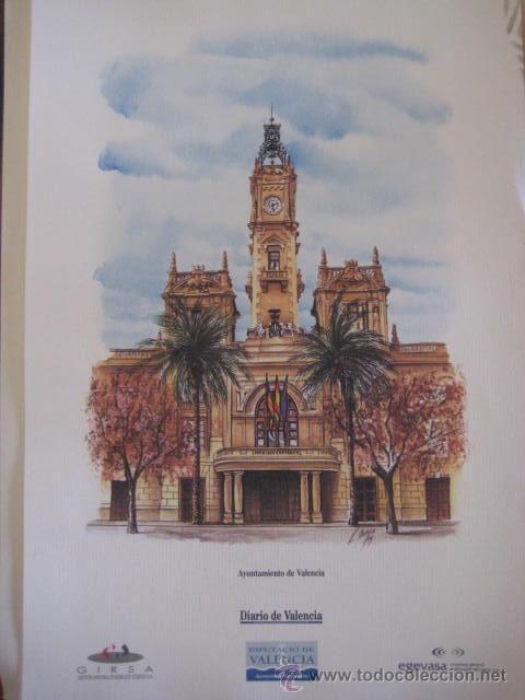 Coleccionismo: AYUNTAMIENTOS DE VALENCIA-COLECCION DE SUCURSALES- Luis Sancho Alcayde. 28 LAMINAS A COLOR. - Foto 2 - 37075321