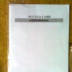 Coleccionismo: MANUAL DE USUARIO TARJETA PCI VGA CARD. Lote 37138315