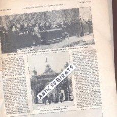 Coleccionismo: RECORTE DE PRENSA AÑO 1908 FOTOS DE MONISTROL DE CALDERS MITING AGRICOLA DIPUTADOS. Lote 37141886