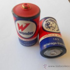 Collectionnisme: ANTIGUAS PILAS MARCA WONDER MADE IN FRANCE. PILA BATERIAS. Lote 37199549
