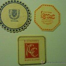 Coleccionismo: LOTE POSAVASOS VARIADOS EN PAPEL Y CARTON. Lote 37241812