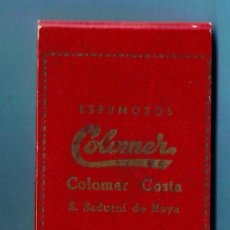 Coleccionismo: LIBRETA PARA TOMAR NOTAS DE ESPUMOSOS COLOMER. COLOMER COSTA. SAN SADURNI DE NOYA, BARCELONA, S/F.. Lote 37264516