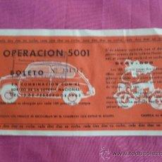 Collezionismo: BOLETO DE SORTEO DE SEAT 600. VALENCIA 1963. Lote 136022672