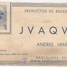 Coleccionismo: TARJETA COMERCIAL DE PRODUCTOS DE BELLEZA. BARCELONA. Lote 37392818
