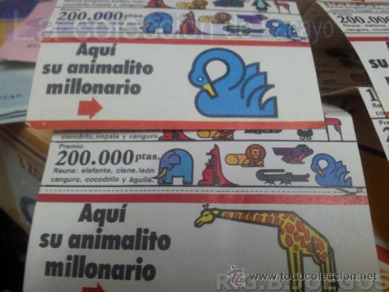 Coleccionismo: Lote de 7 Cupones pastelitos diferentes Ortiz año 72 - 73 para concurso Zoo Millonario - Foto 4 - 37413439