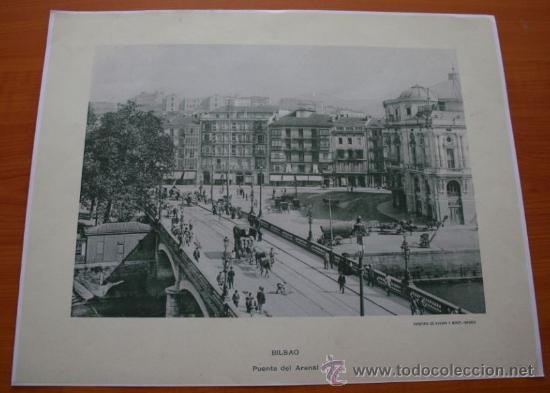 FOTOGRAFIA DEL PUENTE DEL ARENAL DE BILBAO IMPRESA EN PAPEL - NO ES ANTIGUA (Coleccionismo - Laminas, Programas y Otros Documentos)