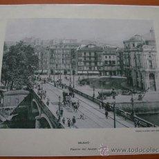 Coleccionismo: FOTOGRAFIA DEL PUENTE DEL ARENAL DE BILBAO IMPRESA EN PAPEL - NO ES ANTIGUA. Lote 37455821