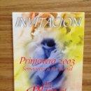 Coleccionismo: INVITACIÓN PRIMAVERA 2003 EL PALACIO DEL CARIBE DE TORREVIEJA. Lote 37474254
