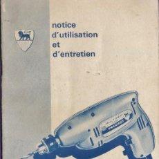 Coleccionismo: MANUAL DE INSTRUCCIONES - MULTIREX 206 - PEUGEOT FRERES - VER FOTO - AÑOS 70. Lote 37678333
